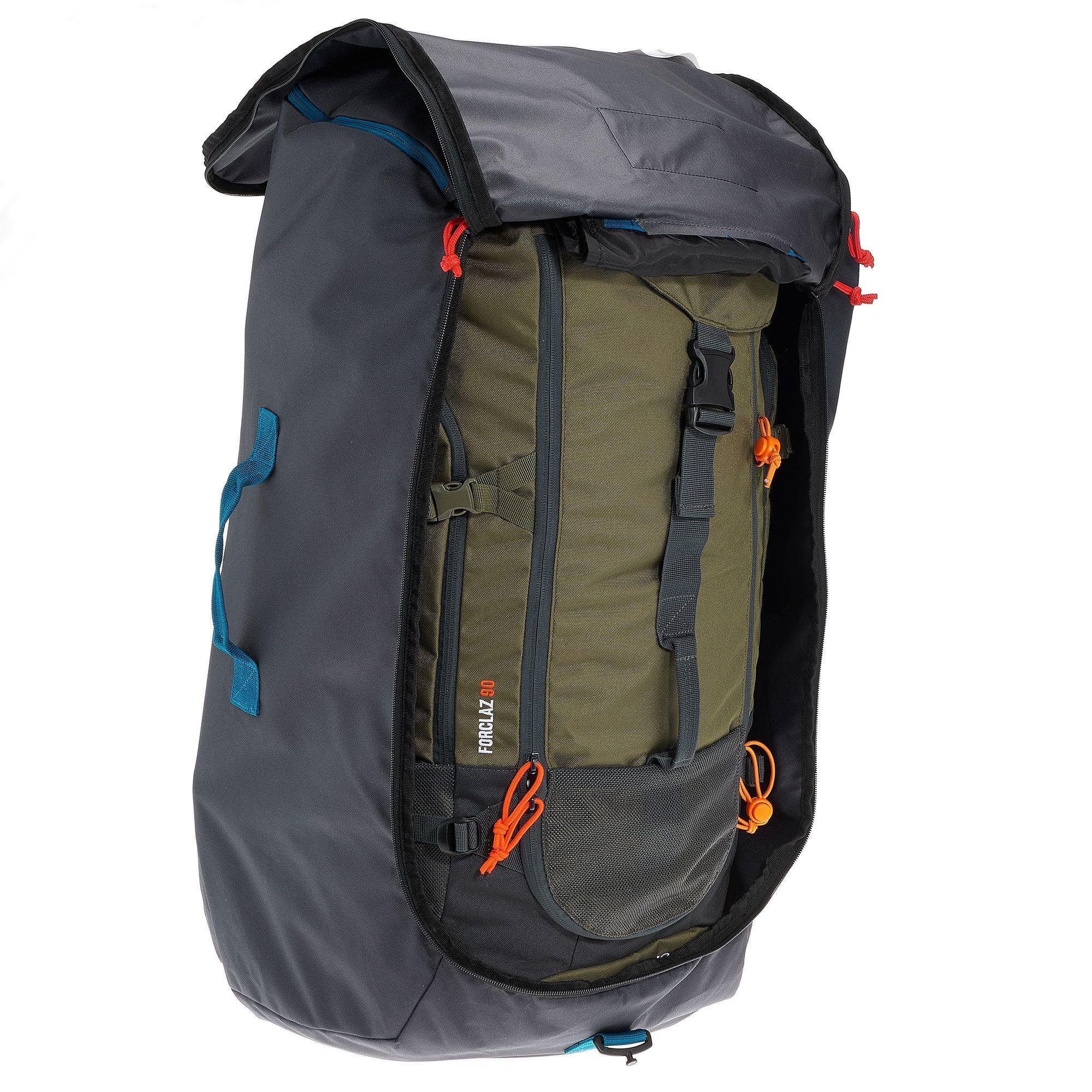 c5377bb6753 Forclaz Set van 2 halfronde opbergzakken voor rugzak… Quechua Vliegtuighoes  voor rugzak van 40 tot 90 liter kopen met voordeel