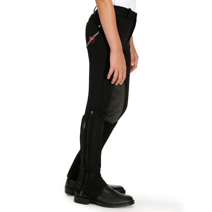 Pantalon équitation enfant FULLSEAT noir et - 895105