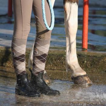 Boots équitation enfant et adulte SCHOOLING 100 noir - 895256