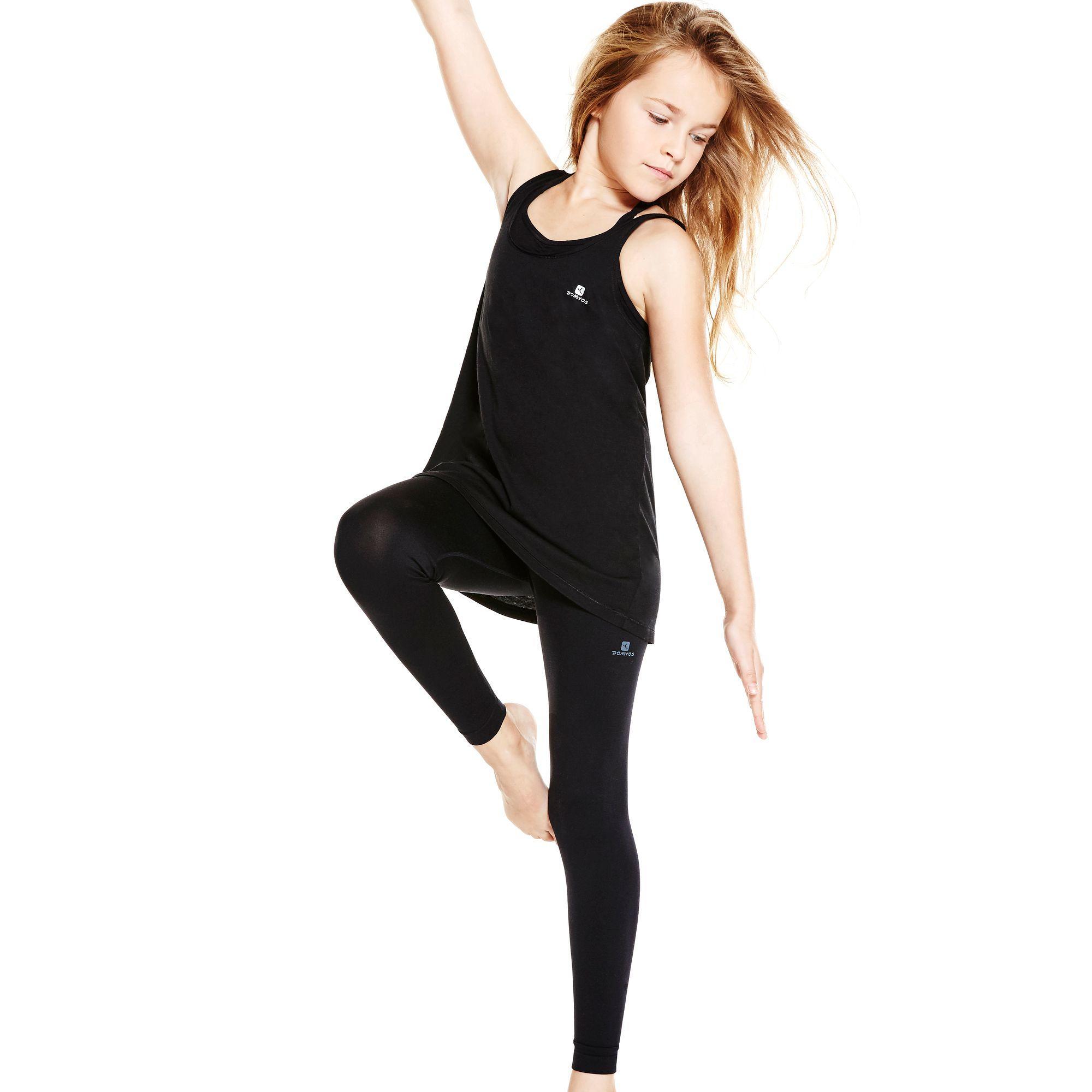 Girls' Dance Leggings - Black
