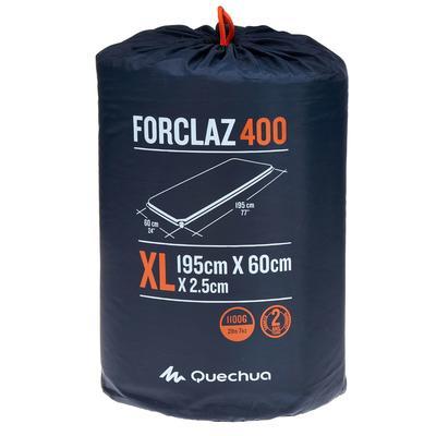 Aislante inflable de camping FORCLAZ 400 XL   1 persona