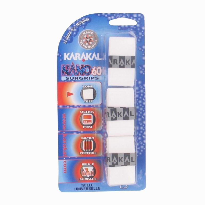 Karakal Overgrip squash Nano 60 wit 3 stuks
