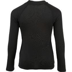 Camiseta Interior Térmica de Esquí Wed'ze 100 Niños Negro