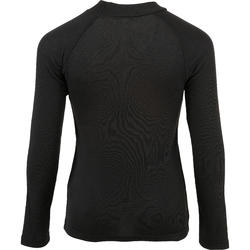 SIMPLE WARM 兒童刷毛保暖滑雪打底長褲 - 黑色