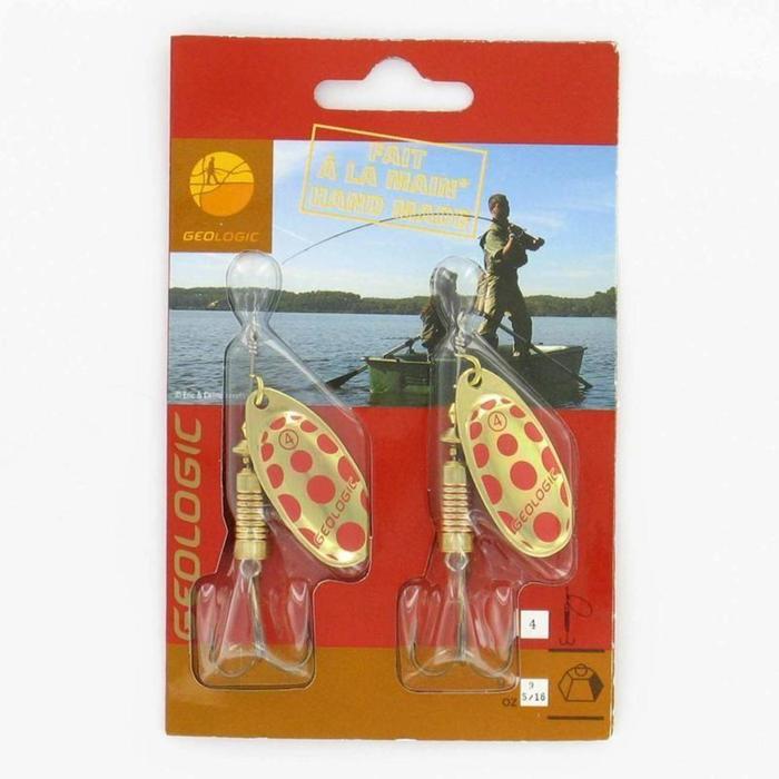 Cuiller pêche PONGA #4 Argent x2 - 897774