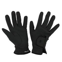 Rijhandschoenen Roeck-Grip voor volwassenen ruitersport zwart