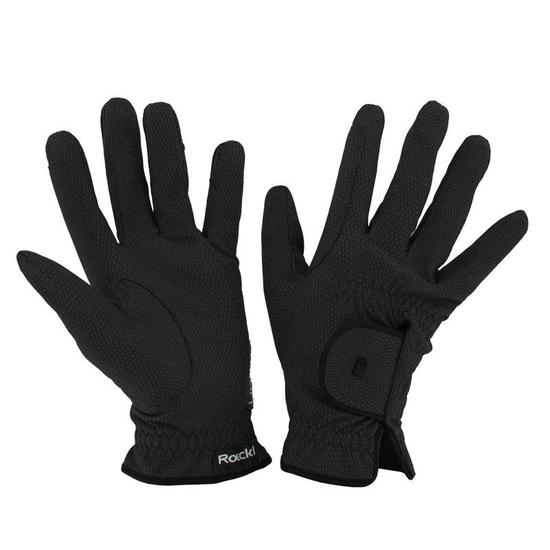 Rijhandschoenen Roeck-Grip voor volwassenen ruitersport zwart - 897981