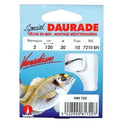 Hameçons pêche en mer MONTÉS DAURADE 7210 BN X10