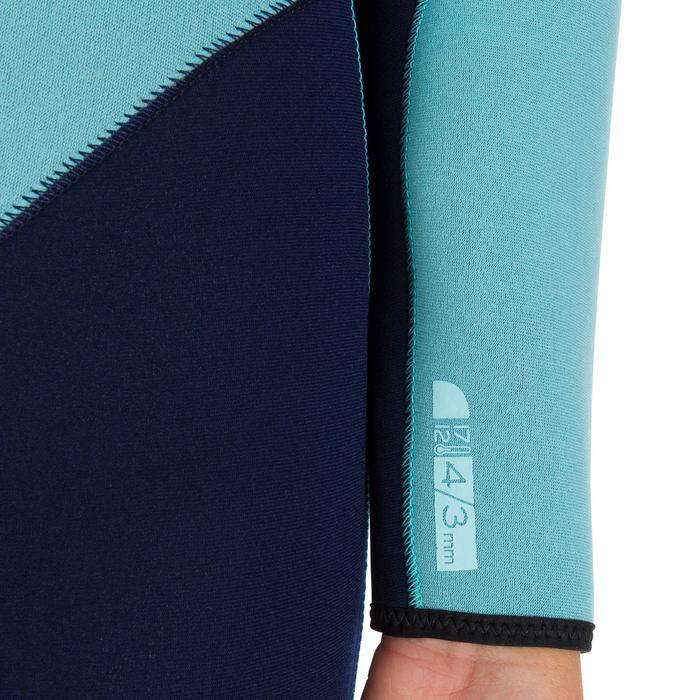 Combinaison SURF 100 Néoprène 4/3 mm Femme bleu - 898403
