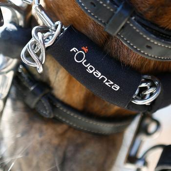 Protector de barbada de equitación caballo de neopreno negro