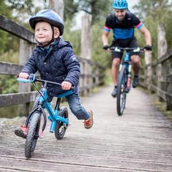 Loopfietsje 10 inch Run Ride MTB blauw - 899203