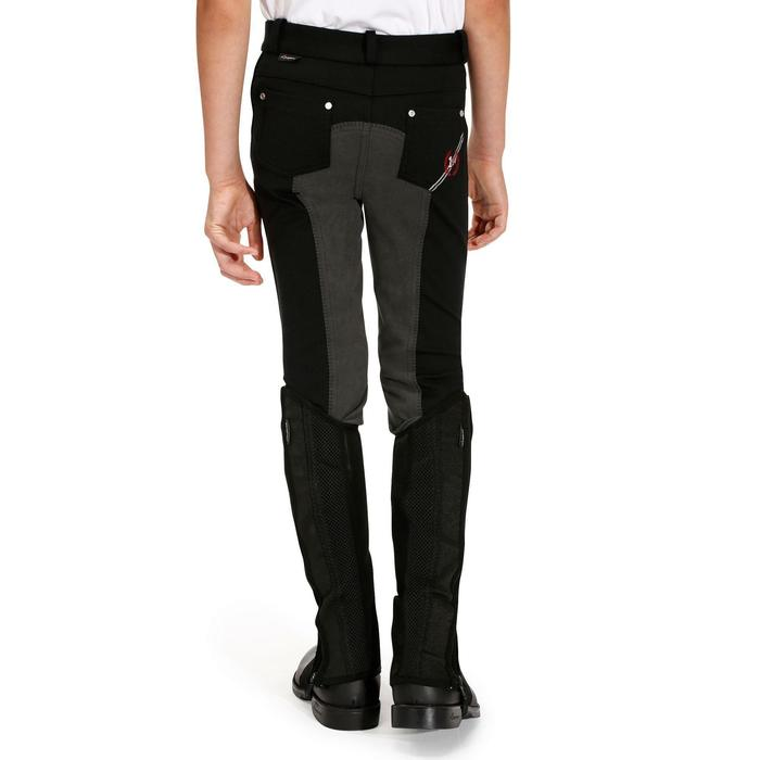 Pantalon équitation enfant FULLSEAT noir et - 900316