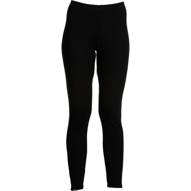 กางเกงตัวในผู้หญิงเพื่อการเล่นสกีรุ่น 100 (สีดำ)