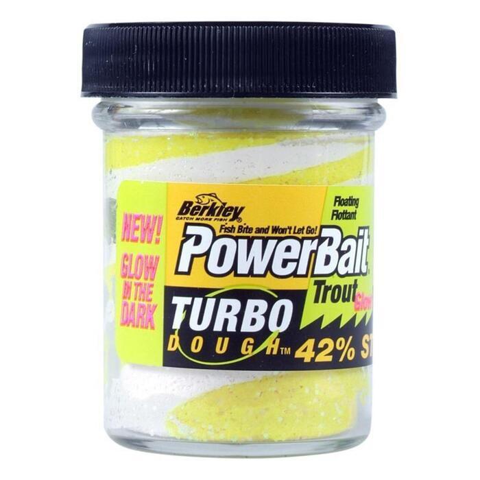 Forellenteig weiß/gelb mit Glitzerteilchen 50 g