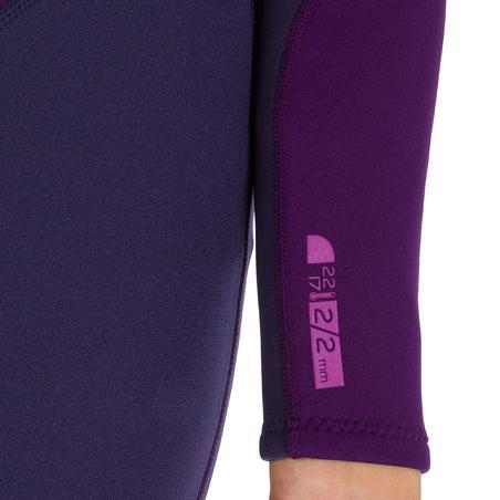 100 Women's 2/2 mm Neoprene Surfing Wetsuit - Purple