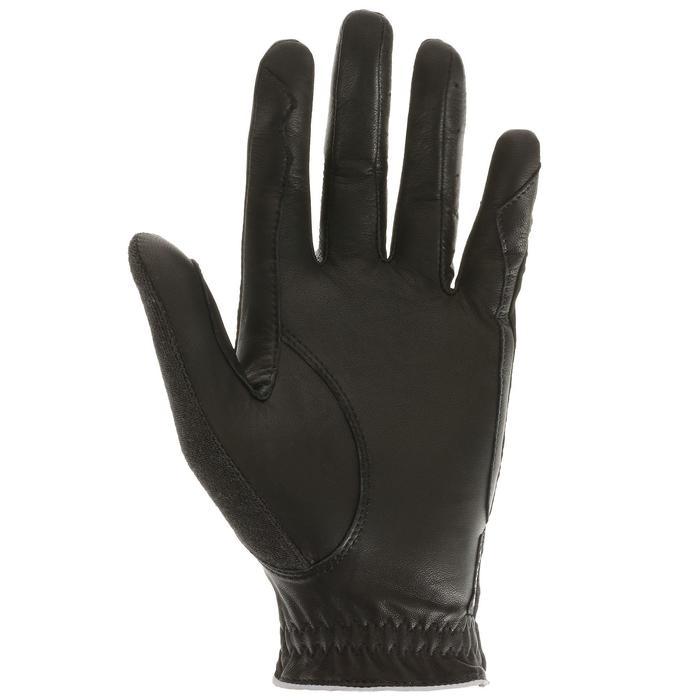 Reithandschuhe Pro'Leather Erwachsene schwarz