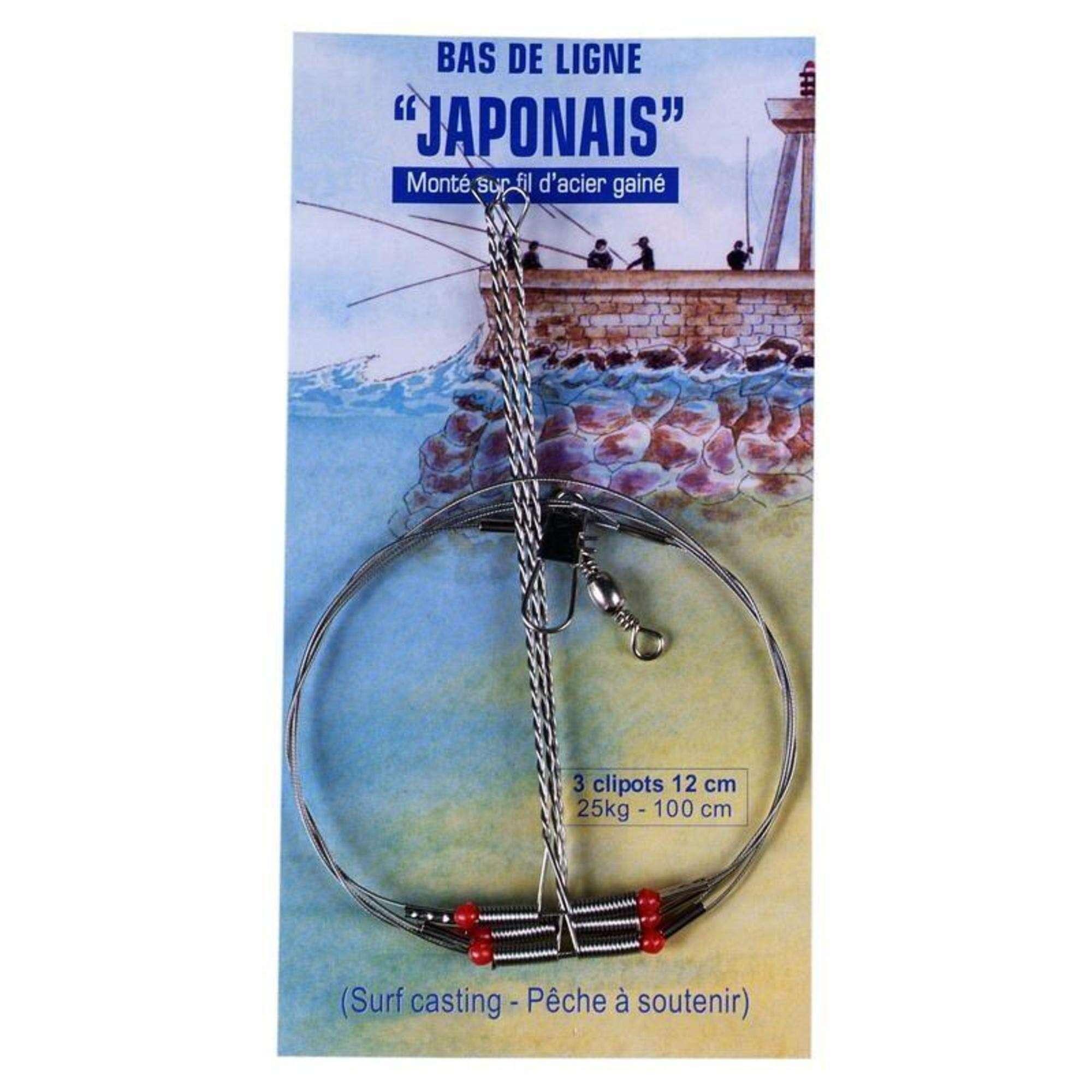 CLIP LINE Rybolov - NÁVAZEC JAPONAIS 12 CM OCEL  FLASHMER - Rybářské vybavení