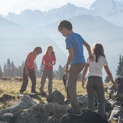 Afritsbare wandelbroek voor meisjes Hike 900 - 902044