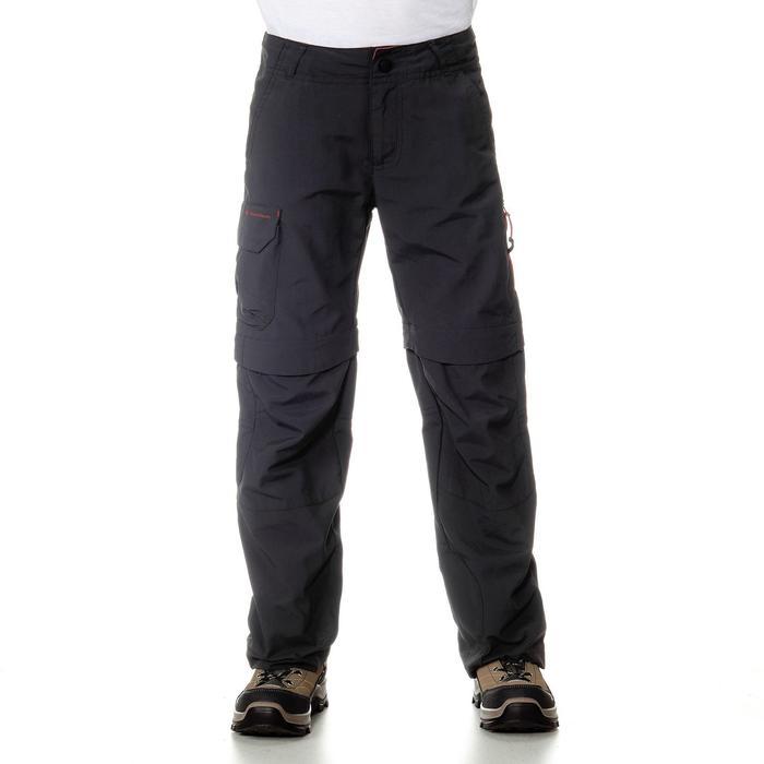 Pantalón transformable de senderismo júnior MH550 Negro