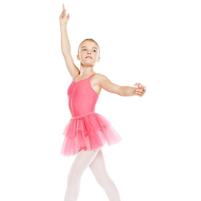 Justaucorps de danse classique fines bretelles fille SYLVIA blanc - 902525