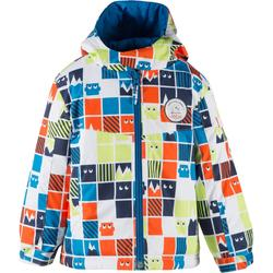 100 兒童滑雪運動夾克 灰色 紅色