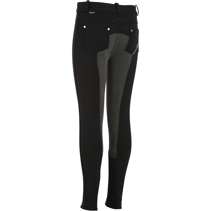 Pantalon équitation enfant FULLSEAT noir et - 902667