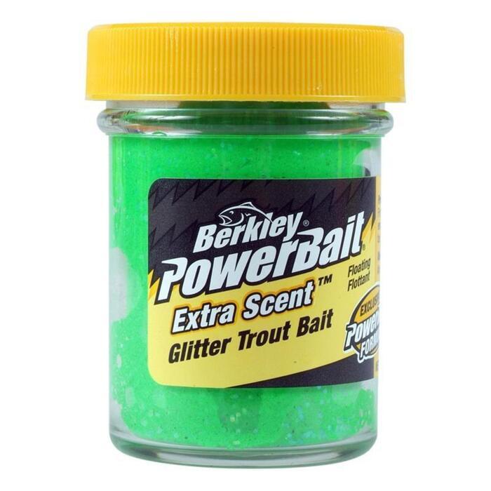 Kunstaas forelvissen groene glitters 50 g
