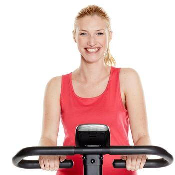 Tank-Top 100 Gym & Pilates Damen weiß