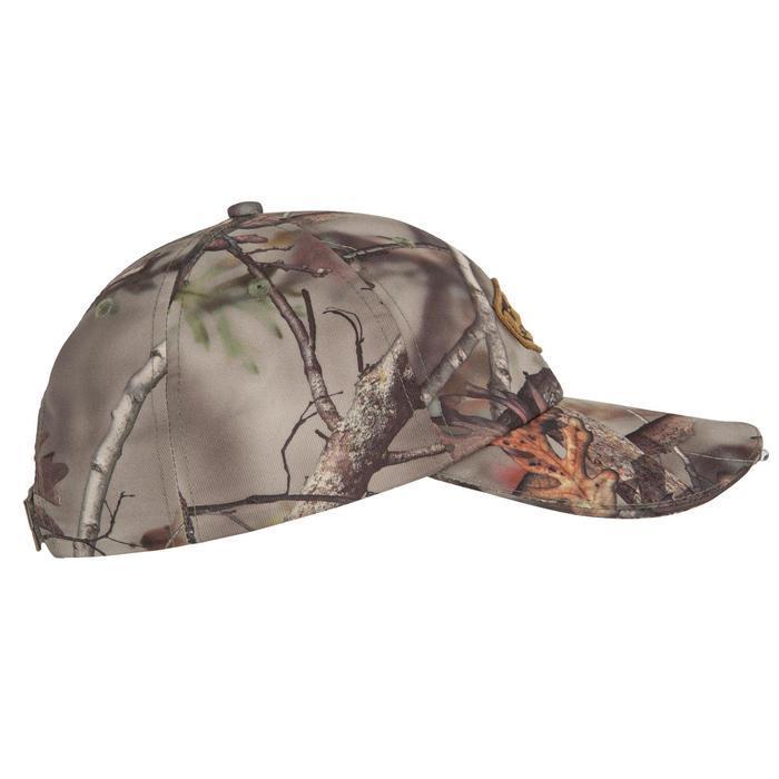 Casquette éclairante chasse Actikam 500 Led camouflage marron - 90515