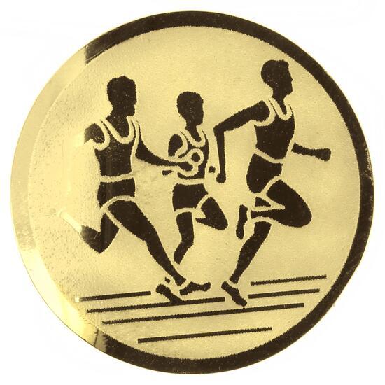 Plaatje hardlopen goud - 905163