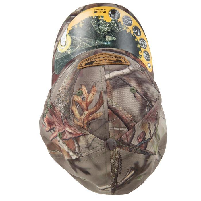 Casquette éclairante chasse Actikam 500 Led camouflage marron - 90518
