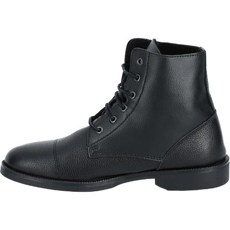 Classic Adult Lace-Up Horse Riding Jodhpur Boots - Black