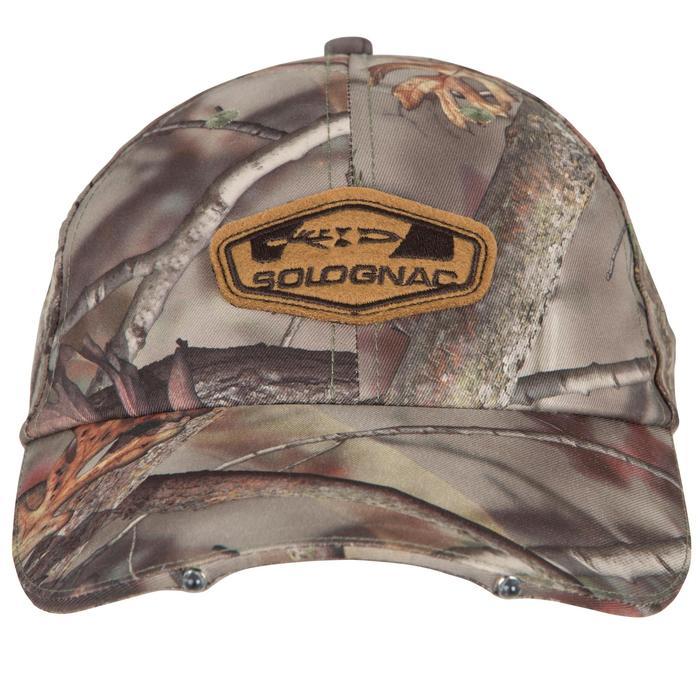 Casquette éclairante chasse Actikam 500 Led camouflage marron - 90521