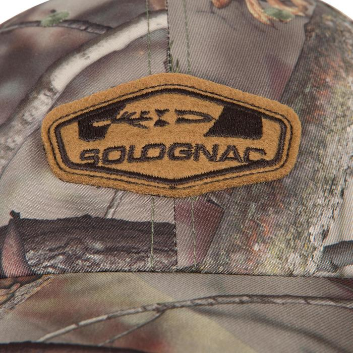 Casquette éclairante chasse Actikam 500 Led camouflage marron - 90522
