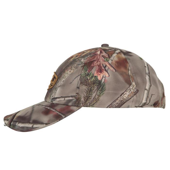 Casquette éclairante chasse Actikam 500 Led camouflage marron - 90523