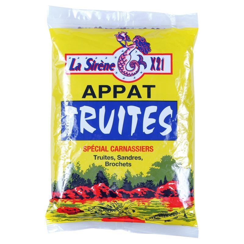 TROUT GRANULES 0.5 KG FOR TROUT FISHING WITH BAIT IN PONDS