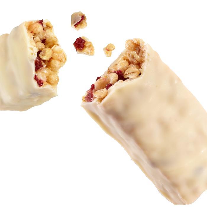 Barre de céréales enrobée chocolat blanc fraise cranberries 32g