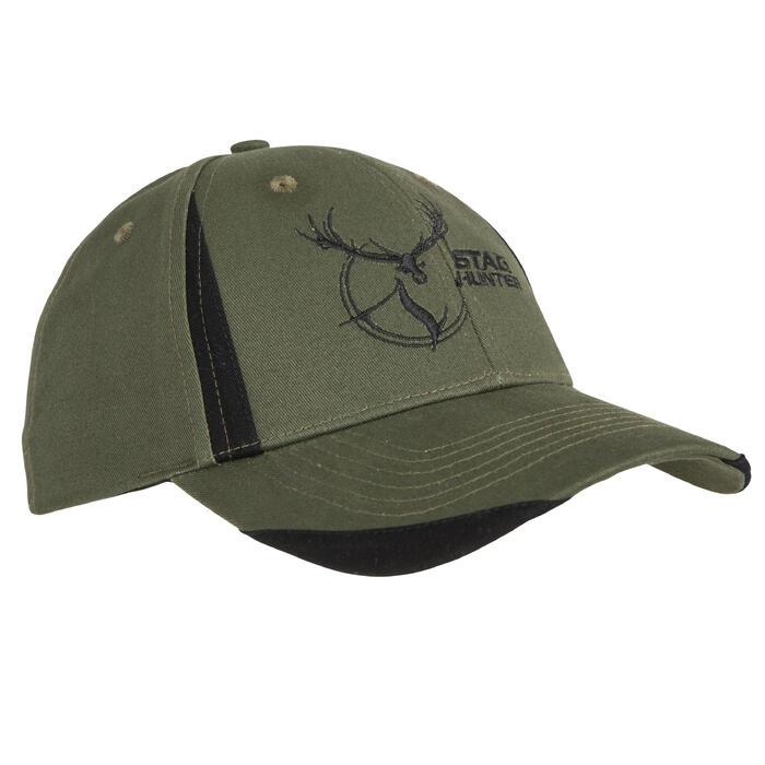 Casquette chasse Steppe Flex vert et noir