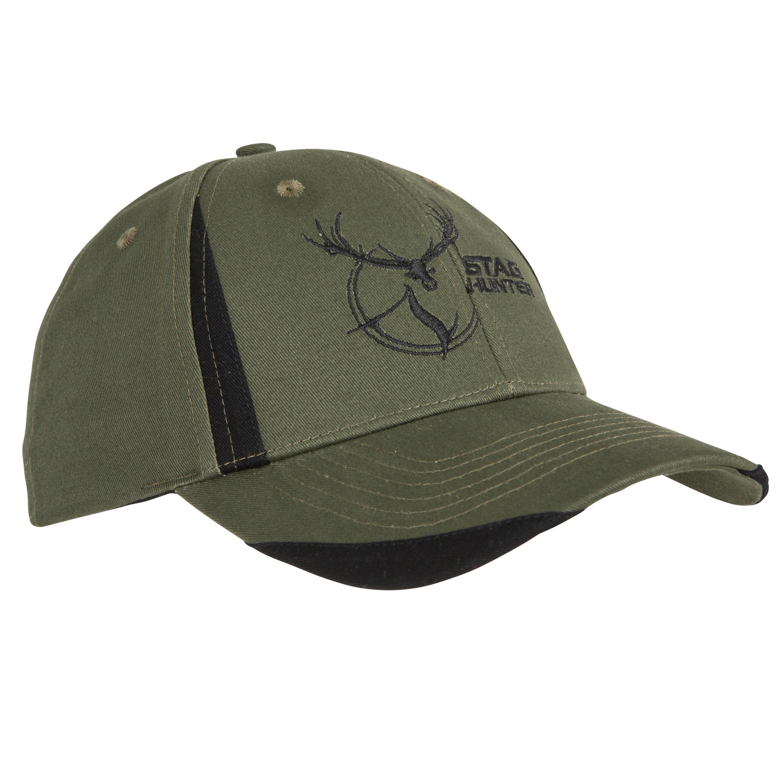 Jagd-Schirmmütze Steppe Flex grün/schwarz | Accessoires > Mützen > Sonstige Mützen | Grün - Khaki - Schwarz | Solognac