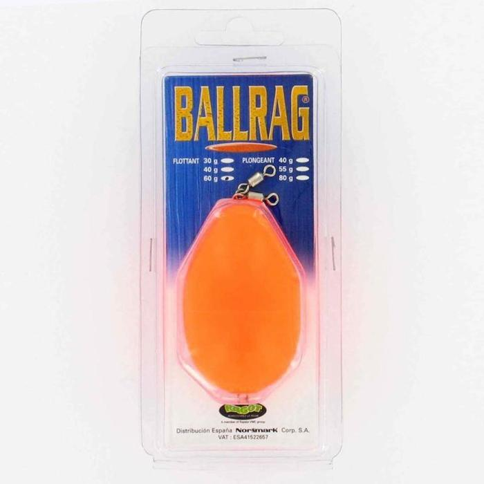BULLES A EAU/BOMBETTES PECHE EN MER BALLRAG FLUO ORANGE 60G - 906477