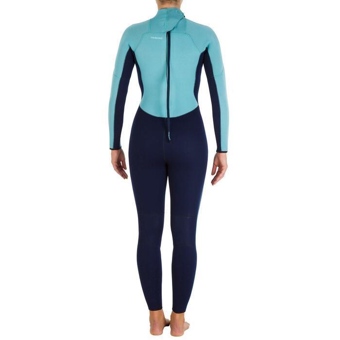 Combinaison SURF 100 Néoprène 4/3 mm Femme bleu - 906623