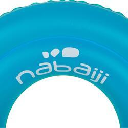 Blauwe zwemband 51 cm met zebraprint en twee luchtkamers kinderen 11-30 kg - 906697