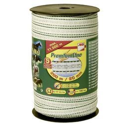 Ruban pour clôture équitation PREMIUM LINE blanc - largeur 20mm X 200m