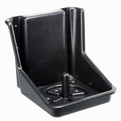 Soporte para piedra de sal equitación caballo y poni negro - 5 a 10 kg