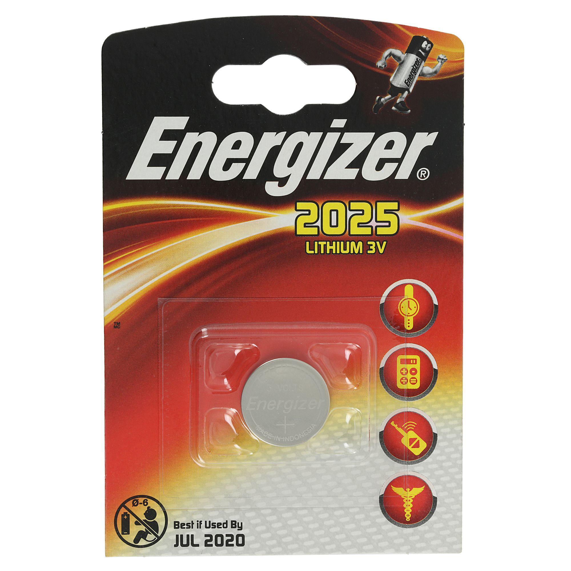 Energizer Knoopcelbatterij CR2025 1 Stuk