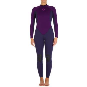 Combinaison SURF 100 Néoprène 2/2 mm Femme Violet - 907837