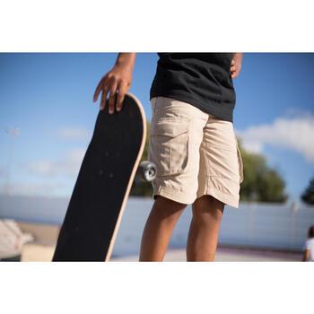 Bermudas skateboard junior LONGSKATE beige