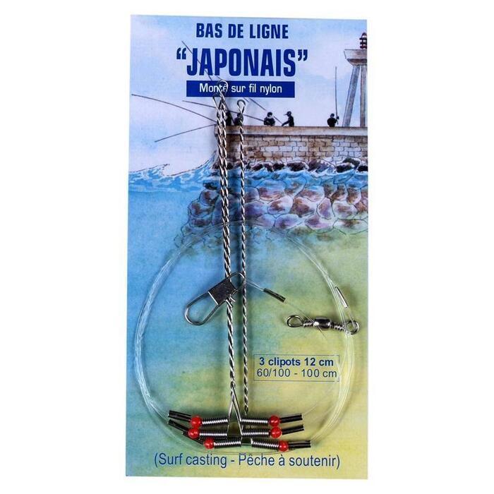 Clipots Japonais 12cm nylon x3 pêche en mer