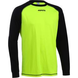 Adult Football Goalkeeper Jersey F300 - Yellow Black