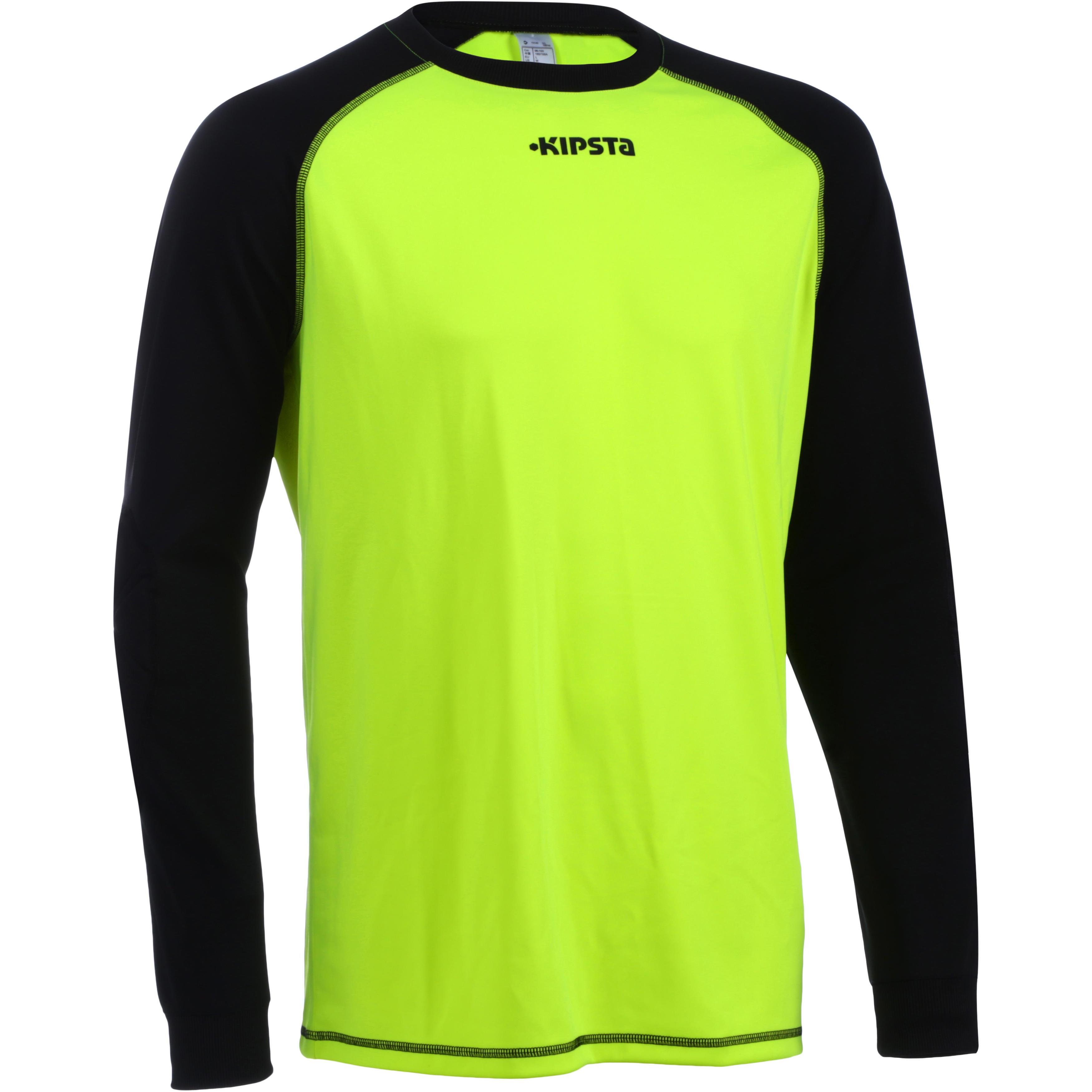 F300 Adult Football Goalkeeper Shirt Yellow Black